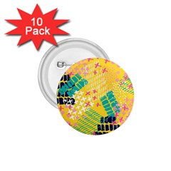 Abstract Colorful Doodle Pattern 1 75  Buttons (10 Pack) by tarastyle