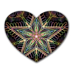 Star Mandala Pattern Design Doodle Heart Mousepads