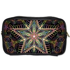 Star Mandala Pattern Design Doodle Toiletries Bag (one Side)