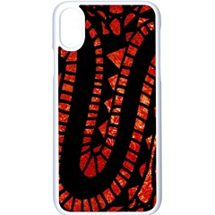 Background Abstract Red Black Iphone X Seamless Case (white)
