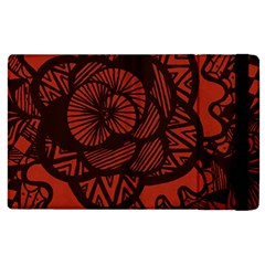 Background Abstract Red Black Apple Ipad 2 Flip Case by Pakrebo
