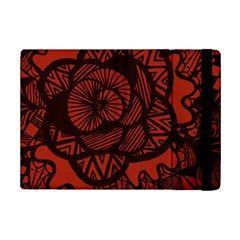 Background Abstract Red Black Ipad Mini 2 Flip Cases