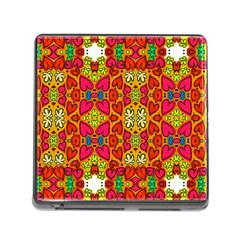 Abstract Background Pattern Doodle Memory Card Reader (square 5 Slot)