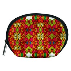 Abstract Background Pattern Doodle Accessory Pouch (medium)