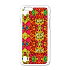 Abstract Background Pattern Doodle Iphone 6/6s White Enamel Case