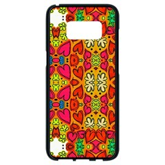 Abstract Background Pattern Doodle Samsung Galaxy S8 Black Seamless Case