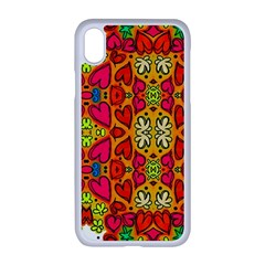Abstract Background Pattern Doodle Iphone Xr Seamless Case (white)