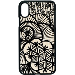 Background Abstract Beige Black Iphone X Seamless Case (black)