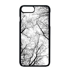 Forest Trees Silhouette Tree Iphone 8 Plus Seamless Case (black)