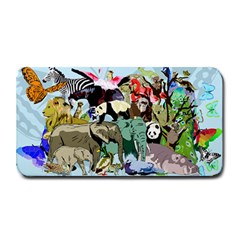 Zoo Animals Peacock Lion Hippo Medium Bar Mats by Pakrebo