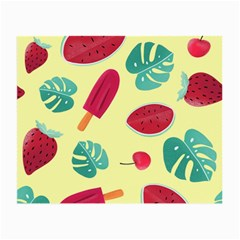 Watermelon Leaves Strawberry Small Glasses Cloth (2 Sides) by Pakrebo