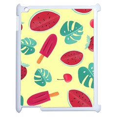 Watermelon Leaves Strawberry Apple Ipad 2 Case (white)