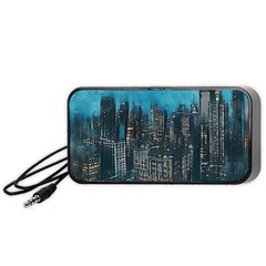 Cityscape Buildings Skyscraper Portable Speaker