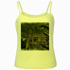 Castle Mansion Architecture House Yellow Spaghetti Tank