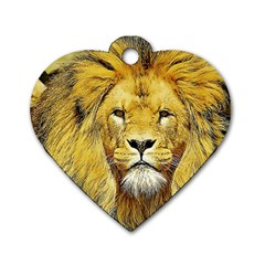 Lion Lioness Wildlife Hunter Dog Tag Heart (one Side)
