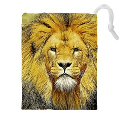 Lion Lioness Wildlife Hunter Drawstring Pouch (xxl) by Pakrebo