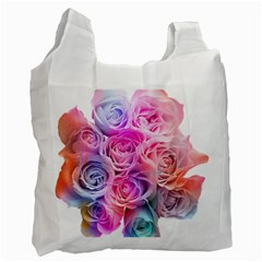 Rose Bouquet Flower Petal Floral Recycle Bag (one Side)