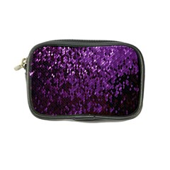 Sequins  White Purple Coin Purse