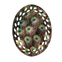 Bird Peacock Tail Feathers Ornament (oval Filigree)