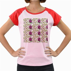 Default Texture Background Floral Women s Cap Sleeve T-shirt by Pakrebo