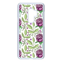 Default Texture Background Floral Samsung Galaxy S9 Plus Seamless Case(white)