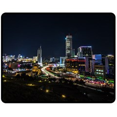 Night City Seoul Travel Korea Sky Fleece Blanket (medium)