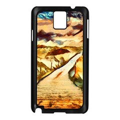 Painting Expressive Colors Texture Samsung Galaxy Note 3 N9005 Case (black) by Pakrebo