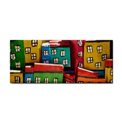 Houses Handmade Cultural Hand Towel by Pakrebo