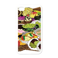 Eat Food Background Art Color Iphone 4 Case (white)