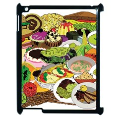 Eat Food Background Art Color Apple Ipad 2 Case (black)