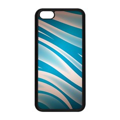 Background Abstract Blue Wavy Iphone 5c Seamless Case (black)
