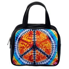 Tie Dye Peace Sign Classic Handbag (one Side)