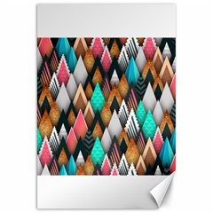 Abstract Triangle Tree Canvas 20  X 30