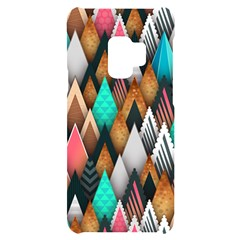 Abstract Triangle Tree Samsung S9 Black Uv Print Case
