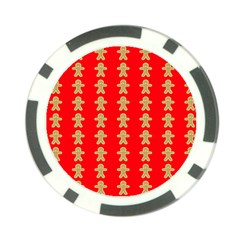 Gingerbread Cookie Christmas Poker Chip Card Guard