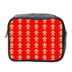Gingerbread Cookie Christmas Mini Toiletries Bag (two Sides)