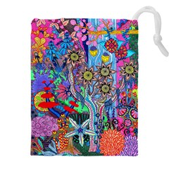 Abstract Forest  Drawstring Pouch (xxxl)