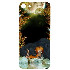 Cute Fairy With Awesome Wolf In The Night Iphone 7/8 Soft Bumper Uv Case by FantasyWorld7