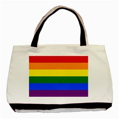 Lgbt Rainbow Pride Flag Basic Tote Bag (two Sides)