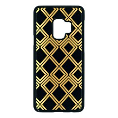 Arabic Pattern Gold And Black Samsung Galaxy S9 Seamless Case(black)