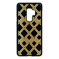 Arabic Pattern Gold And Black Samsung Galaxy S9 Plus Seamless Case(black)