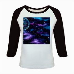 Background Space Planet Explosion Kids Baseball Jerseys