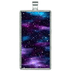 Background Space Planet Explosion Rectangle Necklace