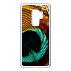 Feather Peacock Feather Peacock Samsung Galaxy S9 Plus Seamless Case(white)