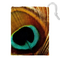 Feather Peacock Feather Peacock Drawstring Pouch (xxxl) by Nexatart