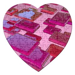 Render 3d Rendering Design Space Jigsaw Puzzle (heart) by Pakrebo