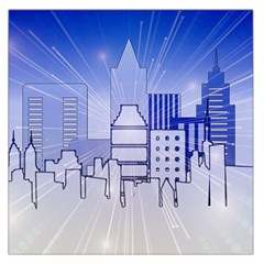 City Architecture Building Skyline Large Satin Scarf (square) by Pakrebo