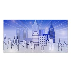 City Architecture Building Skyline Satin Shawl