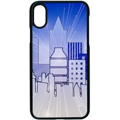 City Architecture Building Skyline Iphone X Seamless Case (black)
