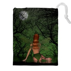 The Night Sadness Surprise Drawstring Pouch (xxl) by Pakrebo